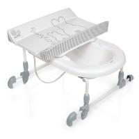 Bañera Bagnotime con cambiador adaptable